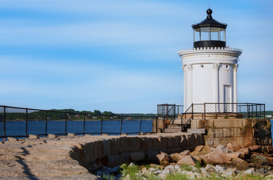 Portland Breakwater Lighthouse was built in 1875 and is one of Maine's most elegant ligh...