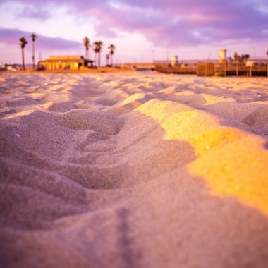 Caught a picture of the sand just before sunset.