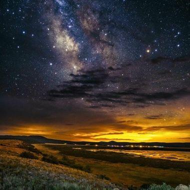 Milkyway over Mormon Lake in Flagstaff, Arizona. Captured with a Nikon Z7.