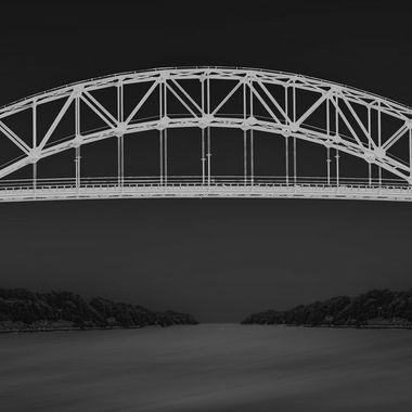 Sagamore Bridge spans the Cape Cod Canal