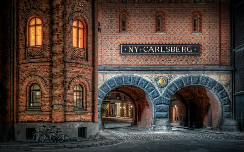 The Worlds Famous Carlsberg brewery buildings.