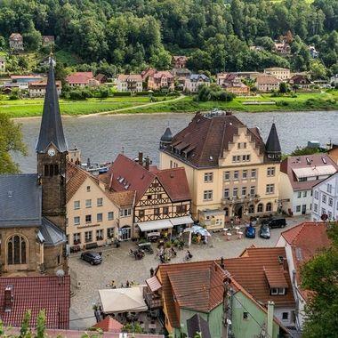 Wehlen in Saxon Switzerland, a little town at river Elbe.