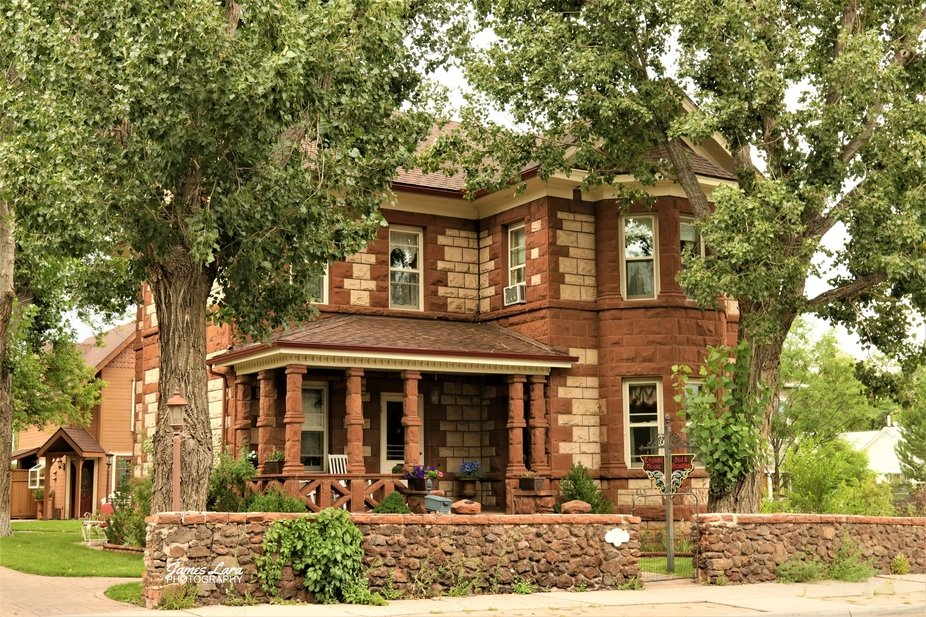 This fine example of sandstone being used in the construction of a vintage home, is now a bed and...