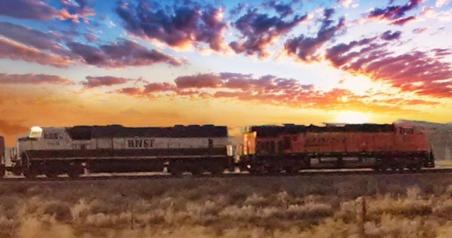 Sunset Train Ride