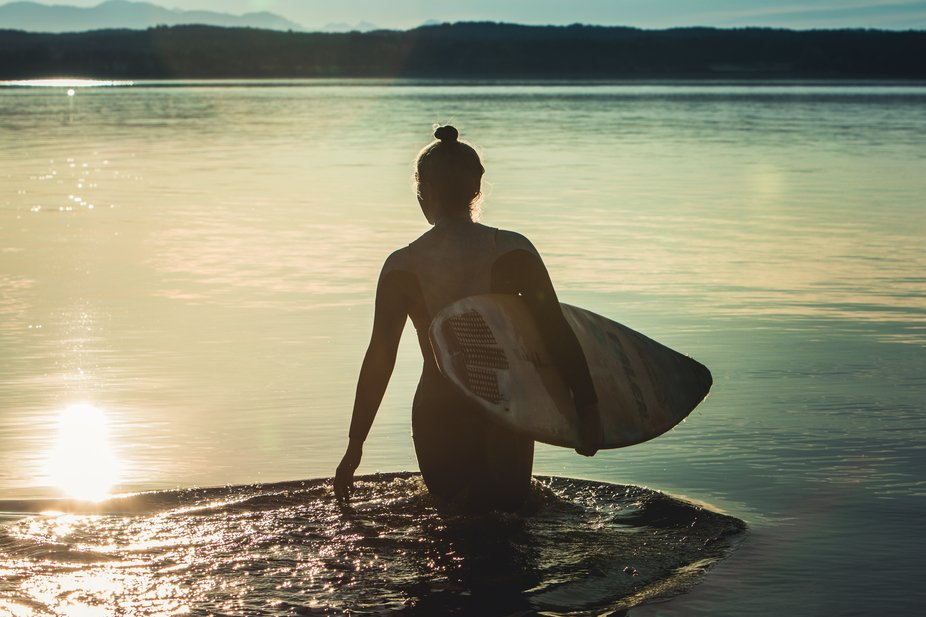Just a girl with her Waveboard