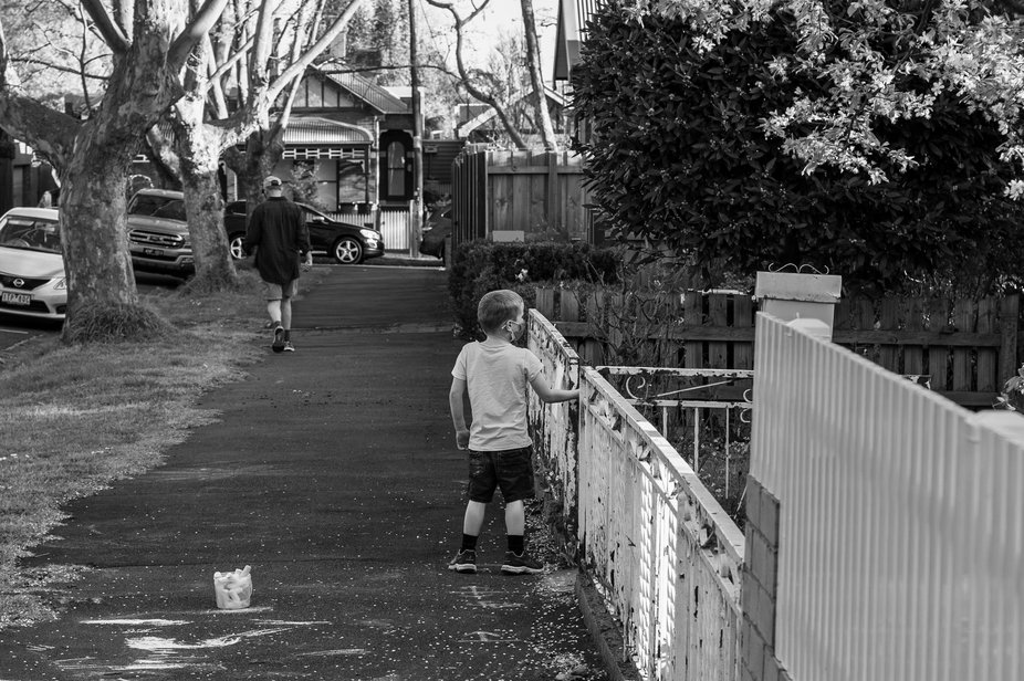 Late afternoon happenings in a quiet street