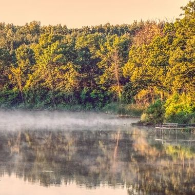 That shot when the light was great and the fog was just, on that lakish pond that when the light is wrong looks a little ish. but when the light is right it shows it's true colors.