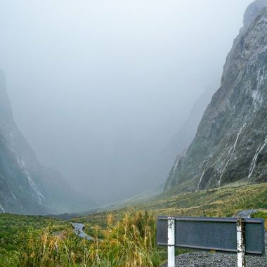 Exit Homer Tunnel - Milford Sound