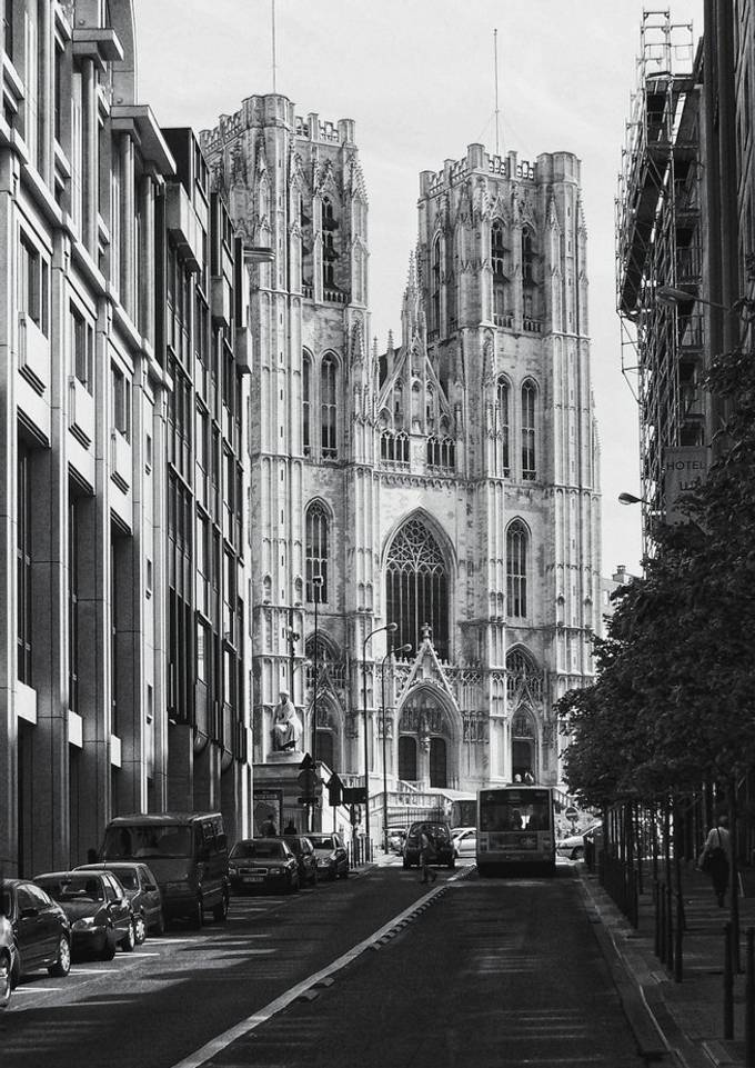 St Michael and St Gudula Cathedral from Brussels, Belgium