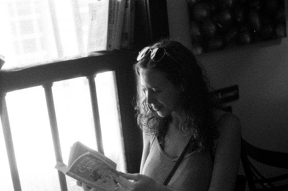 A portrait I took in a little cafè in Warwick New York. Shot on Nikon F3 HP with Berlin 400 film.
