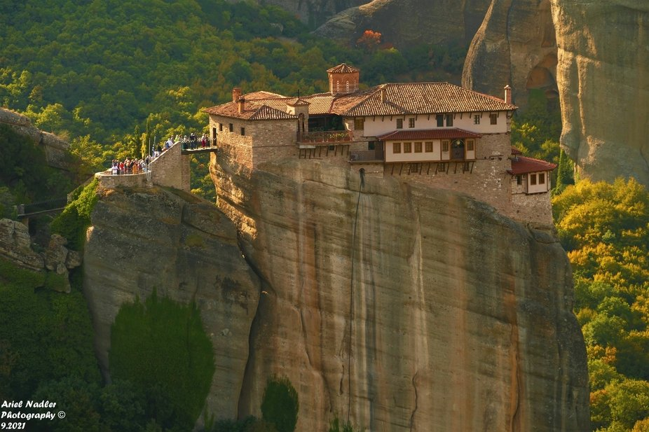 The Monastery on one of the Meteora Cliffs.