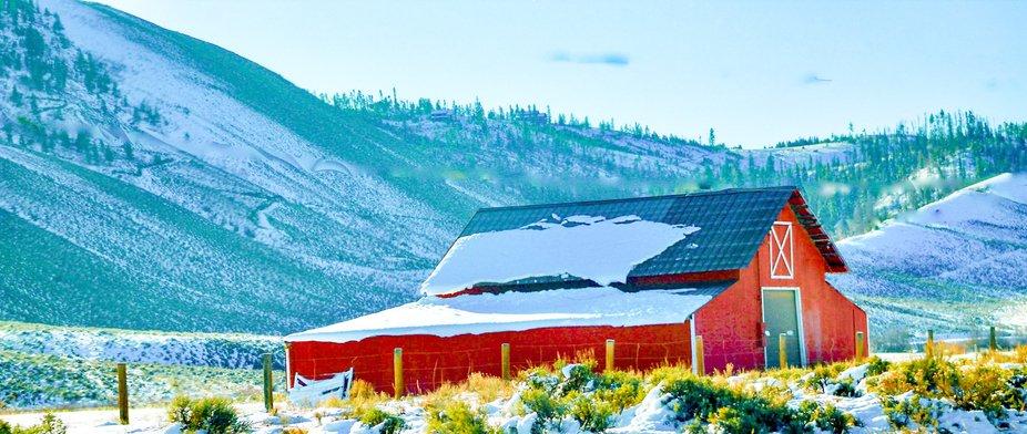 A red barn in Grand County Colorado