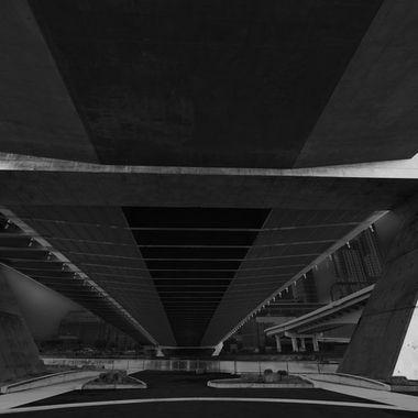 Underside of highway ramp